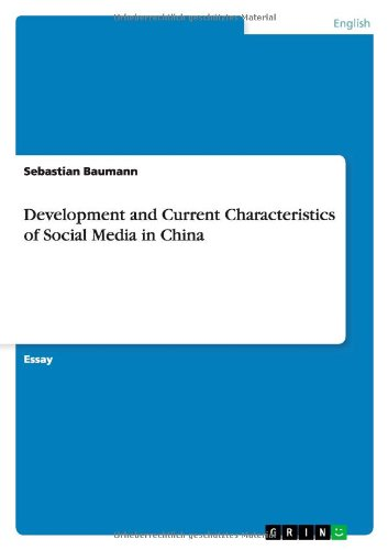 9783656301066: Development and Current Characteristics of Social Media in China