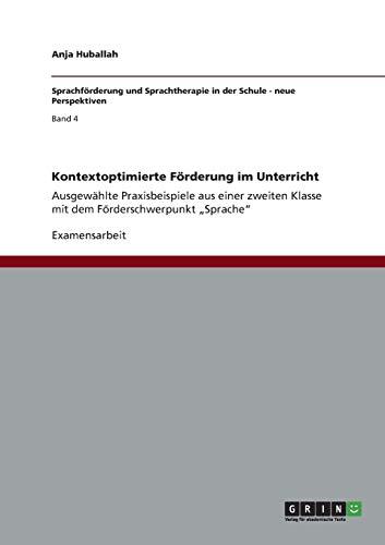 9783656302629: Kontextoptimierte Förderung im Unterricht (German Edition)