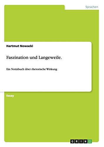9783656304616: Faszination und Langeweile. (German Edition)