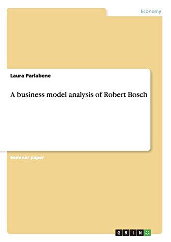 9783656310624: A business model analysis of Robert Bosch