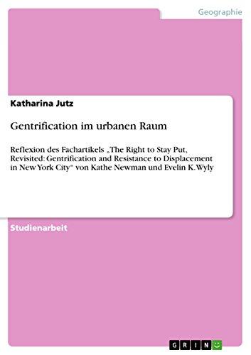 Gentrification im urbanen Raum: Jutz, Katharina