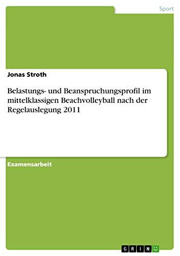 Belastungs- und Beanspruchungsprofil im mittelklassigen Beachvolleyball nach: Jonas Stroth