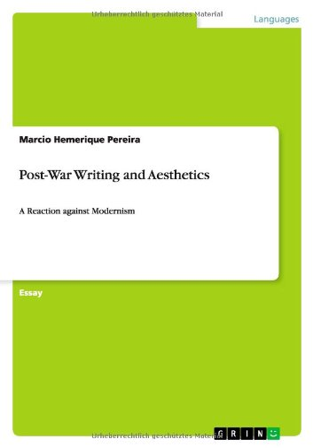 Post-War Writing and Aesthetics: Marcio Hemerique Pereira