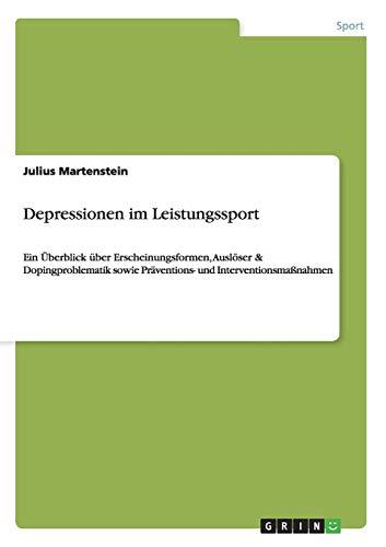 9783656349693: Depressionen im Leistungssport (German Edition)