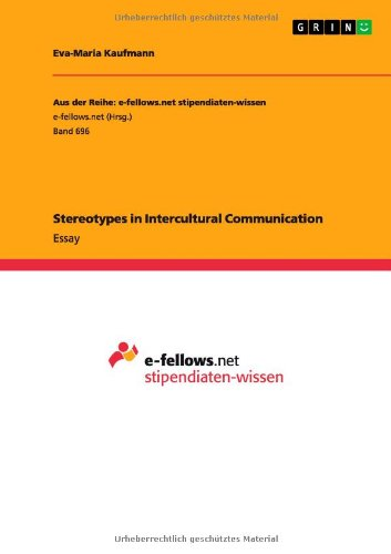 9783656366232: Stereotypes in Intercultural Communication