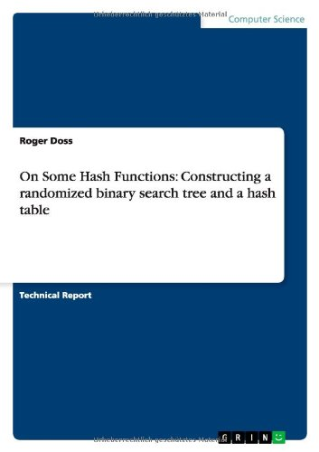 9783656375050: On Some Hash Functions: Constructing a randomized binary search tree and a hash table