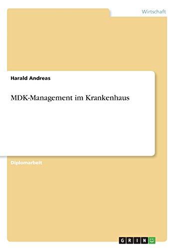 9783656379324: MDK-Management im Krankenhaus (German Edition)