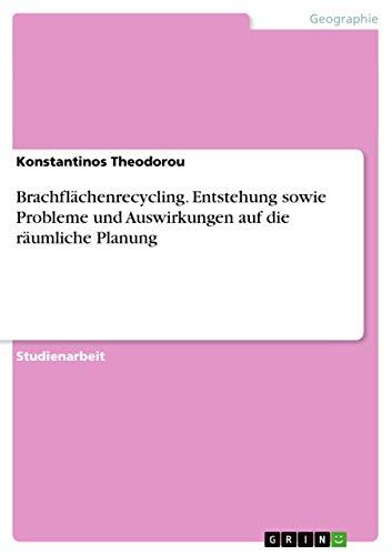 Brachflachenrecycling. Entstehung Sowie Probleme Und Auswirkungen Auf Die Raumliche Planung: ...