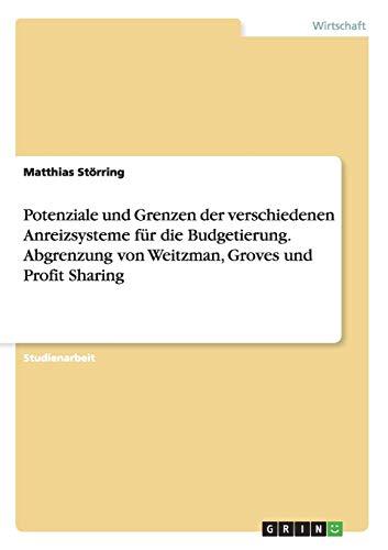 9783656389606: Potenziale Und Grenzen Der Verschiedenen Anreizsysteme Fur Die Budgetierung. Abgrenzung Von Weitzman, Groves Und Profit Sharing