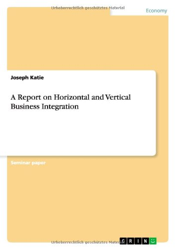 9783656396000: A Report on Horizontal and Vertical Business Integration