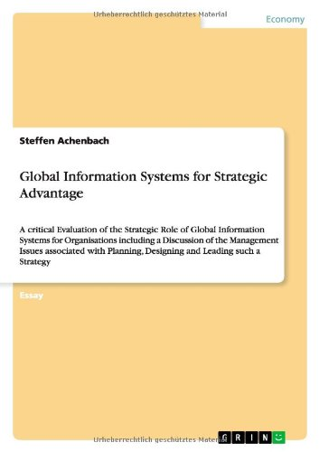 9783656401162: Global Information Systems for Strategic Advantage