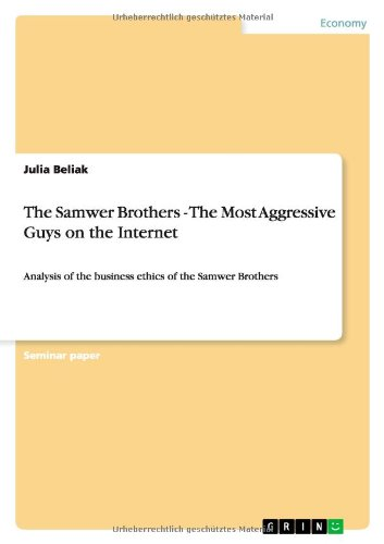 9783656411628: The Samwer Brothers - The Most Aggressive Guys on the Internet