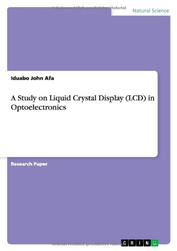 9783656419174: A Study on Liquid Crystal Display (LCD) in Optoelectronics
