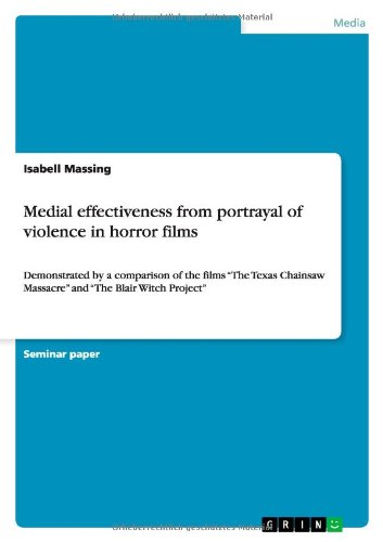 9783656422709: Medial effectiveness from portrayal of violence in horror films