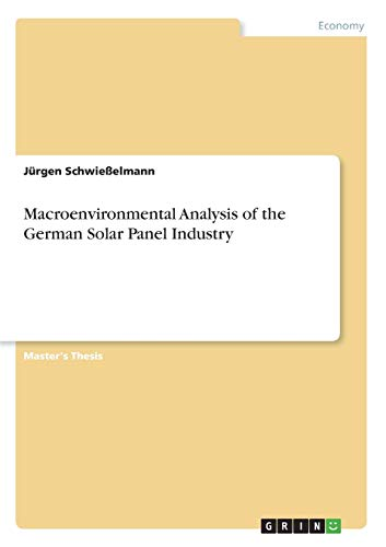 Macroenvironmental Analysis of the German Solar Panel Industry