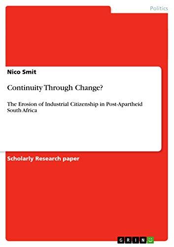 9783656439042: Continuity Through Change?