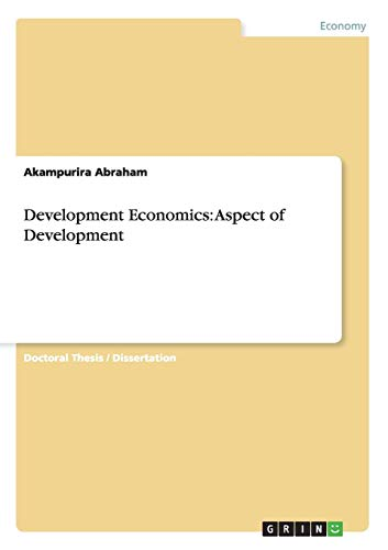 9783656458883: Development Economics: Aspect of Development