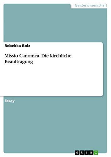 Missio Canonica. Die Kirchliche Beauftragung: Rebekka Bolz