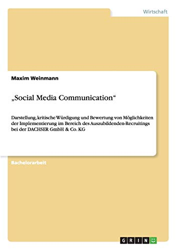 Social Media Communication: Maxim Weinmann