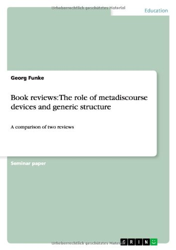 Book reviews: The role of metadiscourse devices: Georg Funke