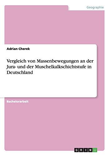 9783656490937: Vergleich von Massenbewegungen an der Jura- und der Muschelkalkschichtstufe in Deutschland