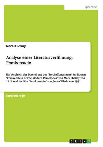9783656499930: Analyse Einer Literaturverfilmung: Frankenstein