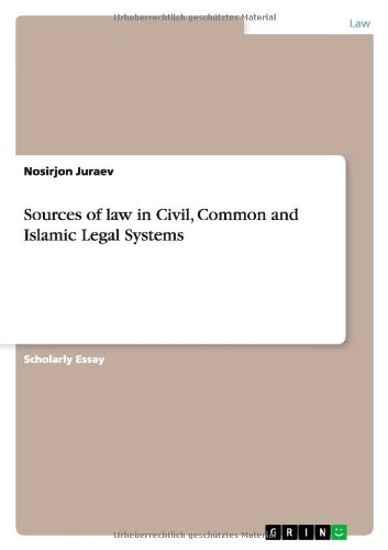 9783656503675: Sources of law in Civil, Common and Islamic Legal Systems
