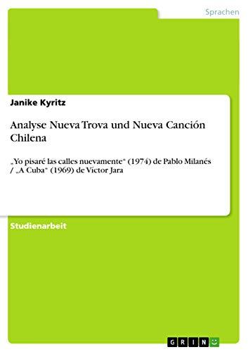 9783656511861: Analyse Nueva Trova und Nueva Canción Chilena (German Edition)