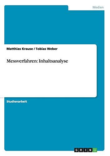 Messverfahren: Inhaltsanalyse: Matthias Krause