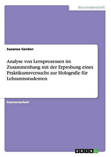Analyse Von Lernprozessen Im Zusammenhang Mit Der: Susanne Gerdon