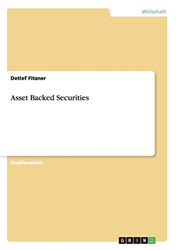 9783656561873: Asset Backed Securities