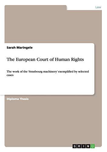 The European Court of Human Rights: Sarah Maringele