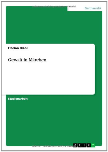 9783656585732: Gewalt in Marchen (German Edition)