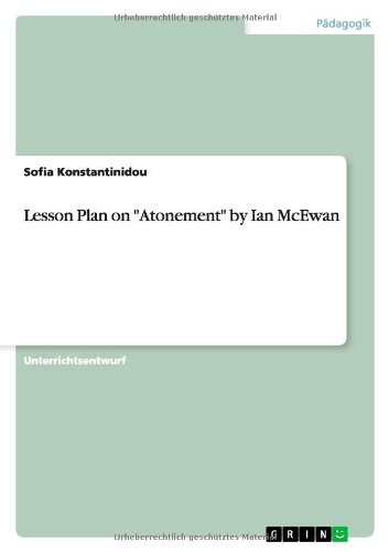 Lesson Plan on Atonement by Ian McEwan