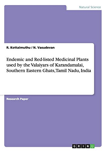 Endemic and Red-listed Medicinal Plants used by: R. Kottaimuthu; N.