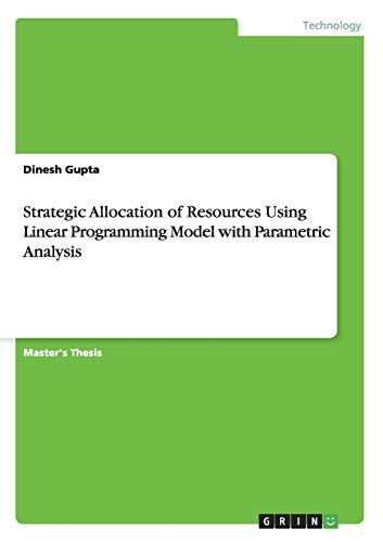 9783656625407: Strategic Allocation of Resources Using Linear Programming Model with Parametric Analysis