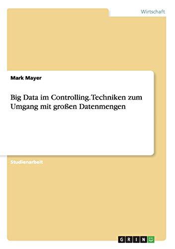9783656647744: Big Data Im Controlling. Techniken Zum Umgang Mit Grossen Datenmengen