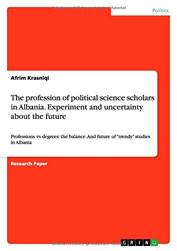 9783656665946: The Profession of Political Science Scholars in Albania. Experiment and Uncertainty about the Future