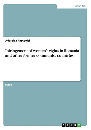 9783656680246: Infringement of women's rights in Romania and other former communist countries