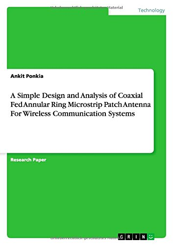 A Simple Design and Analysis of Coaxial: Ankit Ponkia