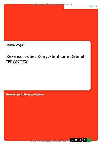9783656690634: Rezensorischer Essay: Stephanie Deimel