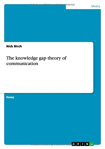 9783656696117: The knowledge gap theory of communication