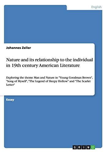 9783656700203: Nature and its relationship to the individual in 19th century American Literature
