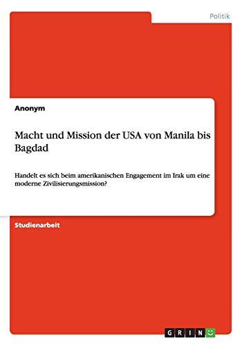 Macht und Mission der USA von Manila: Anonym