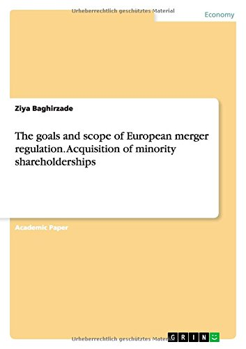 9783656713463: The Goals and Scope of European Merger Regulation. Acquisition of Minority Shareholderships