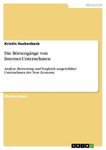 Die Börsengänge von Internet-Unternehmen: Kristin Huckenbeck