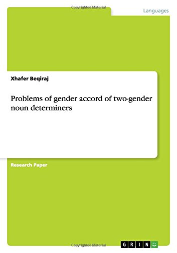 Problems of Gender Accord of Two-Gender Noun: Xhafer Beqiraj