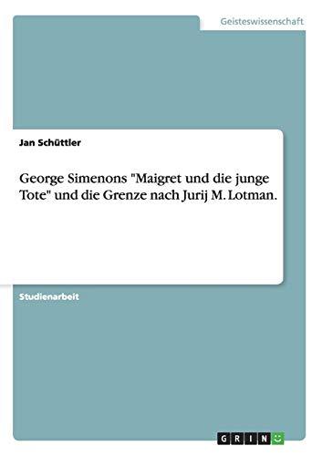 9783656732037: George Simenons