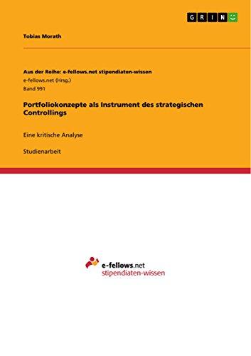 9783656740605: Portfoliokonzepte ALS Instrument Des Strategischen Controllings