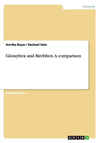 9783656827207: Glossybox and Birchbox. A comparison